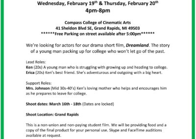 Dreamland Casting Call in Spring 2020
